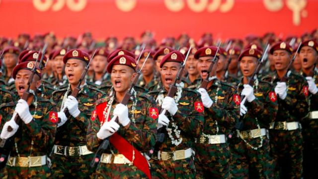 Military in Myanmar.