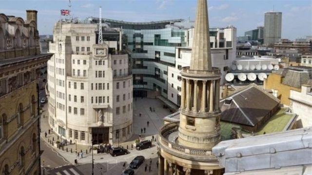 مقر هيئة الإذاعة البريطانية وسط لندن