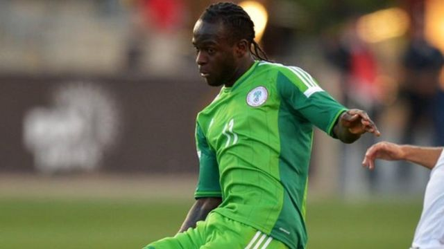 Nigeria footballer, Victor Moses dey play for match