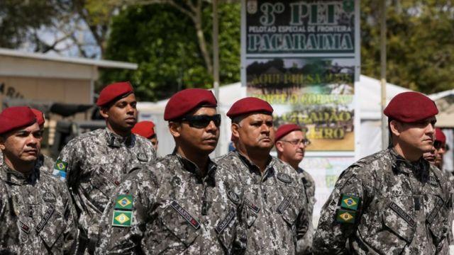 Homens da Força Nacional em Pacaraima