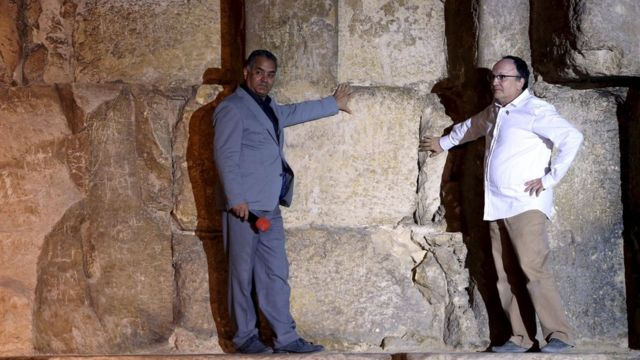 Egypt pyramids scan finds mystery heat spots