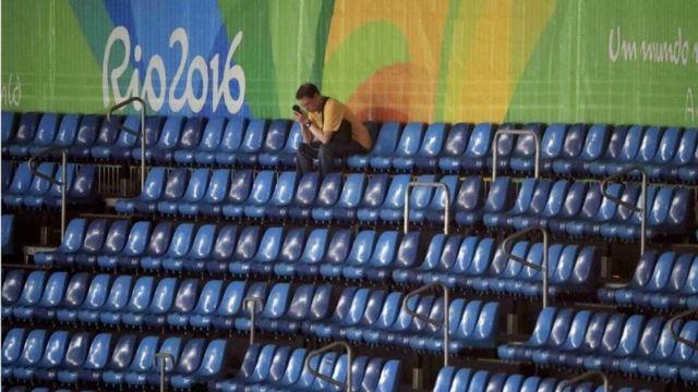 Трибуна стадиона на Олимпиаде в Рио-де-Жанейро