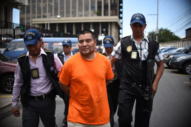 Santos Lopez arrives back in Guatemala city after extradition from the US