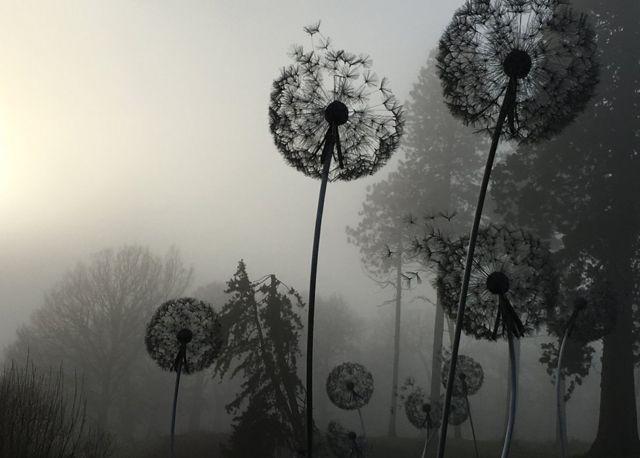 Dandelion metal sculptures