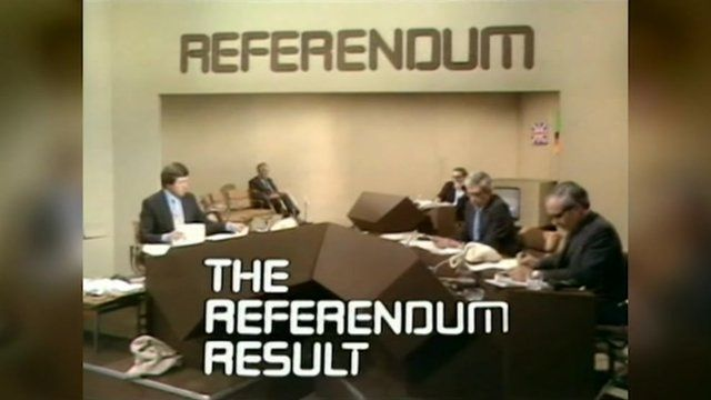 The BBC's 1975 Europe referendum results programme