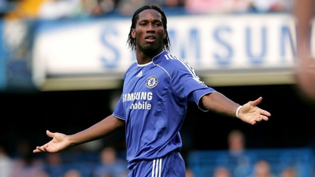 Didier Drogba when he played for Chelsea during the Barclays Premiership Chelsea game against Aston Villa.  at Stamford Bridge, September 30, 2006.