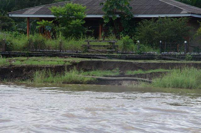 Erosão na margem do Amazonas