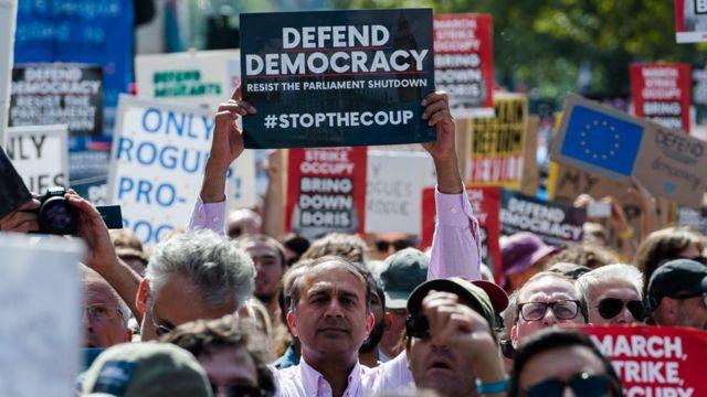 Protest against Brexit