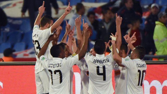 لاعبو فريق اصطيف في إحدى مباريات كأس العالم للأندية في ديسمبر/كانون الأول 2014