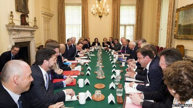 Cabinet meeting, Downing Street, May 12 2015