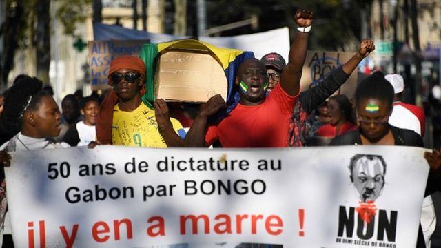 Manifestation à l'annonce de confirmation par la Cour constitutionnelle du Gabon de la victoire du président Ali Bongo