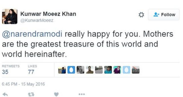 @narendramodi really happy for you. Mothers are the greatest treasure of this world and world hereinafter