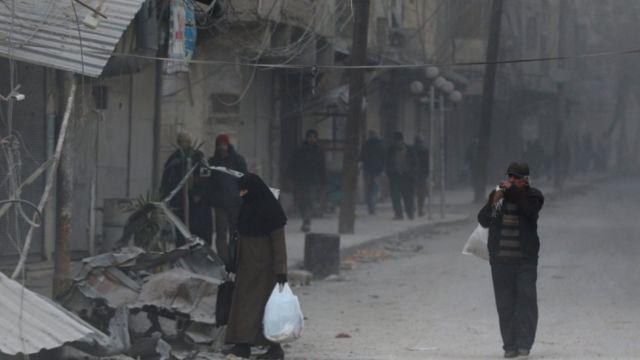سكان شرق حلب