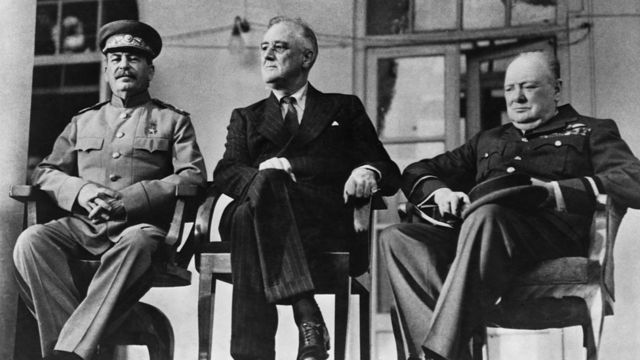 Stalin, Roosevelt and Churchill 1943