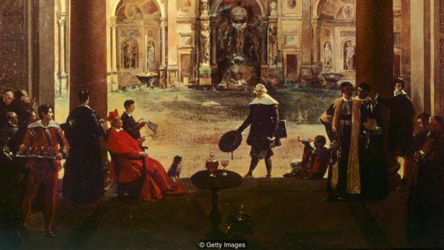 意大利紅衣主教阿爾多布蘭迪尼是位貴族和藝術資助人,他曾擁有全套凱撒銀盤