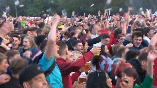 Cardiff fan zone goes wild
