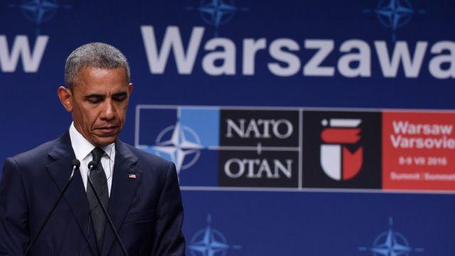 Barack Obama en Polonia.
