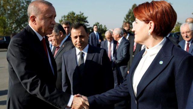 Cumhurbaşkanı Erdoğan ve İYİ Parti Lideri Akşener, 29 Ekim 2019'da Anıtkabir'de yan yana gelmişti.