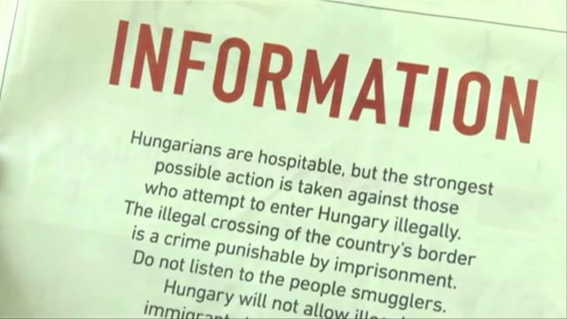 Hungary ads warn migrants against coming to Europe