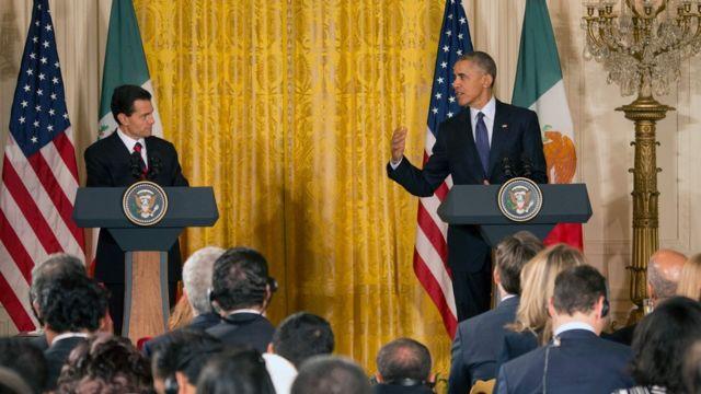 El presidente de México, Enrique Peña Nieto (izquierda), y el de EE.UU., Barack Obama (derecha).
