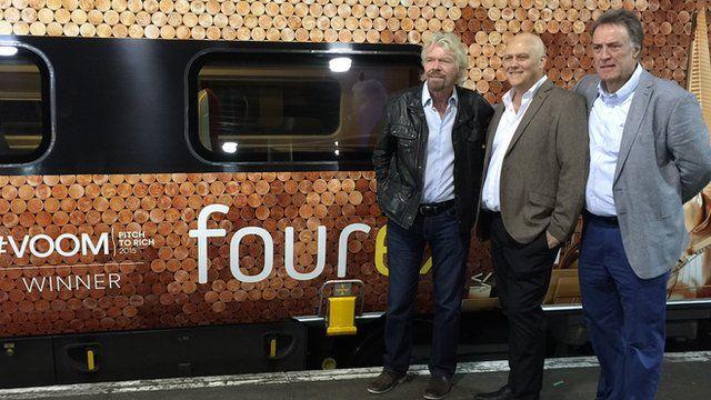 Richard Branson with Fourex founders
