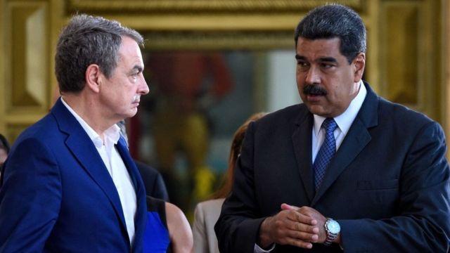 José Luis Rodríguez Zapatero y Nicolás Maduro.