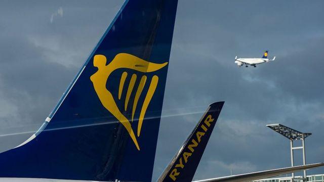 Ryanair tail fin