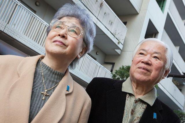 Shigeru Yokota y su esposa Sakie, padres de Megumi, en 2011.