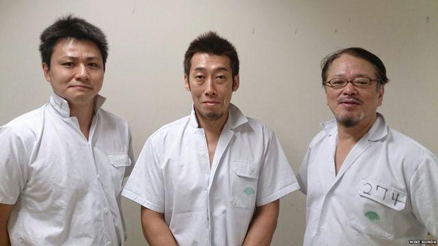 東京・芝浦の食肉市場の従業員