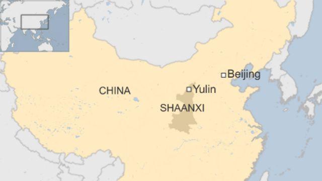 陝西省(Shaanxi)楡林市(Yulin)の位置