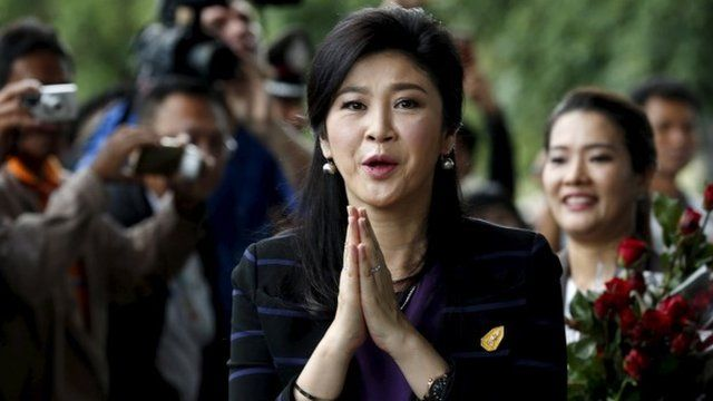 Ousted former Thai Prime Minister Yingluck Shinawatra