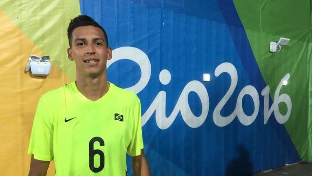 Fabrizio de Oliveira Nascimento, de 20 anos, que está em sua primeira Paralimpíada