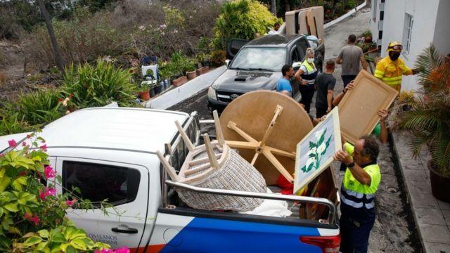 Evacuación en La Palma