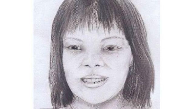 ภาพวาดของตำรวจจากใบหน้าผู้เสียชีวิต