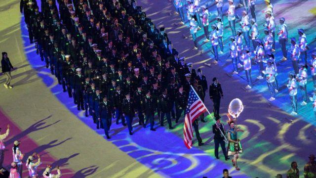Американская команда на Всемирных военных играх в Ухане