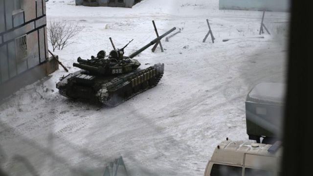 Украинские танки в Авдеевке