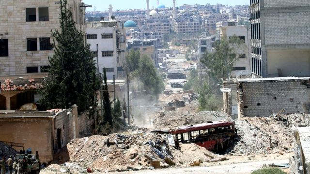 Indege z'ingwano z'igisirikare ca Syria zasubiye kurasa Aleppo