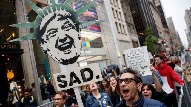 Protesta anti Trump