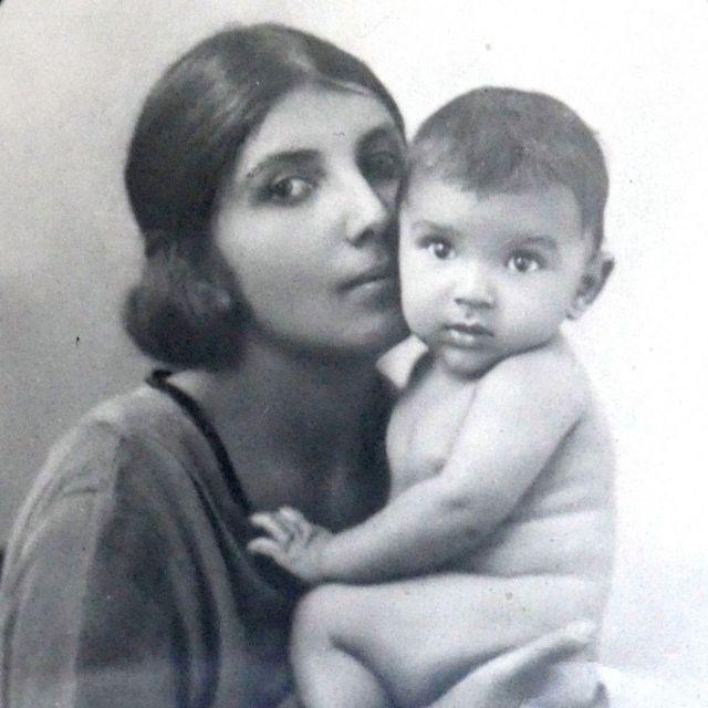 Dorothy Bonarjee with her son, Denis