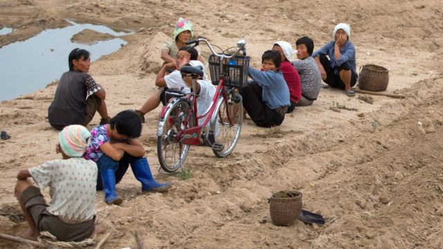 Farm workers in North Korea in 2012