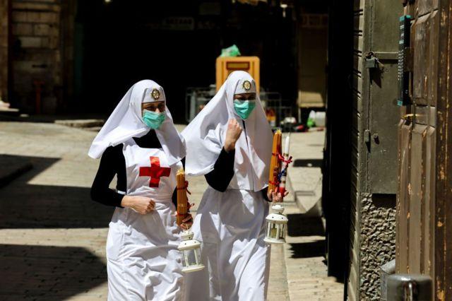 Монахини в Иерусалиме
