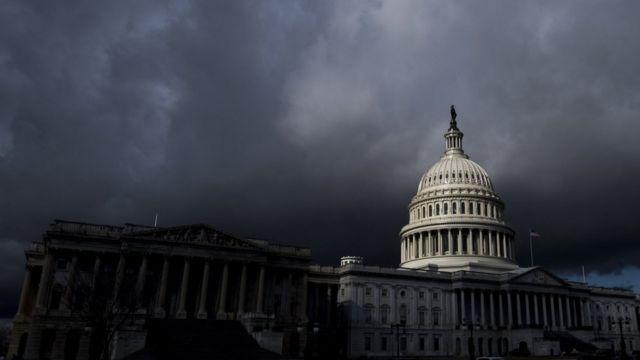 Dark clouds over US Capitol