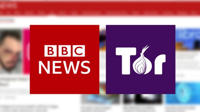 Логотипы Би-би-си и браузера Тор