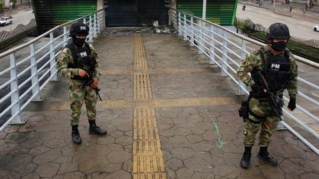 Policías colombianos