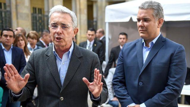 Álvaro Uribe e Iván Duque, cuando este último era candidato a la presidencia.