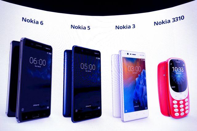 Nuevos modelos de Nokia, presentado en el Mobile World Congress de Barcelona 2017