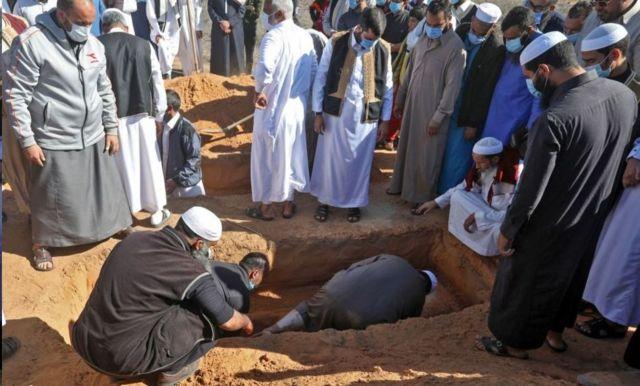 Ένα από τα ευγενικά εκταφθέντα πτώματα θάφτηκε στις 13 Νοεμβρίου 2020