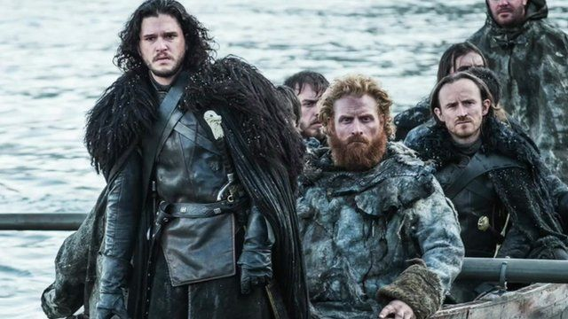 Actor Kit Harrington and others in Game of Thrones