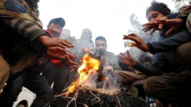 भारत में ज़बरदस्त ठंड