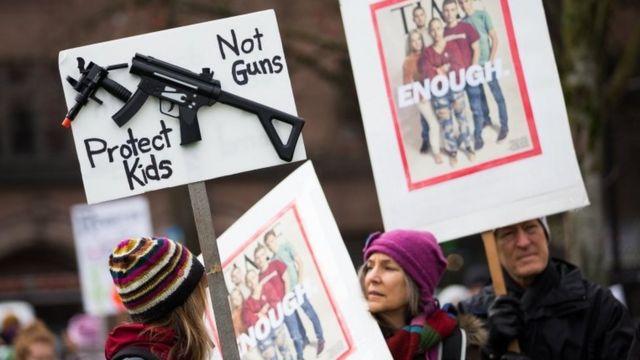 Manifestantes en Washington